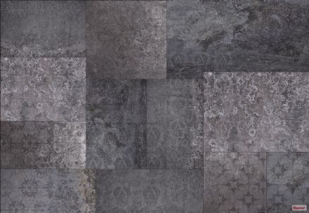 Wallpaper Black Amber Marble imitation